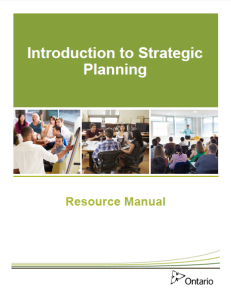Introduction to strategic planning resource manual cover
