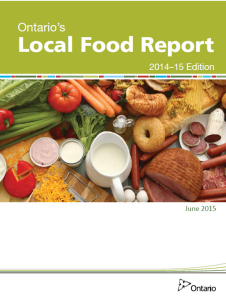 Local Food Report Cover