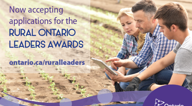 Rural Ontario Leaders Awards Launch
