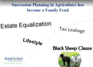 Succession planning in agri