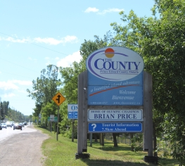 county sign