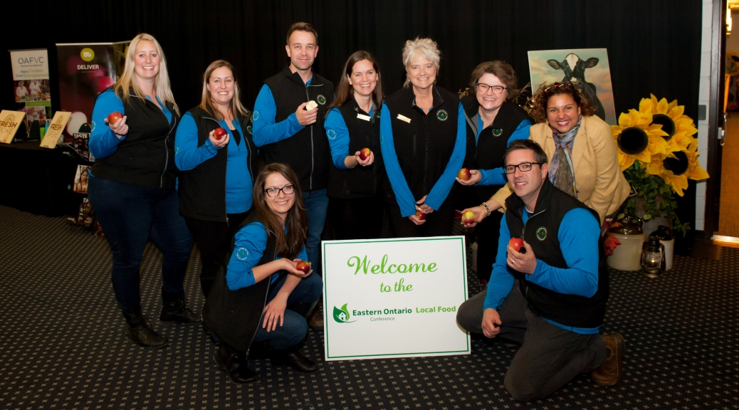 Image of the 2019 Eastern Ontario Local Food Conference Committee, with the Mayor of Cornwall