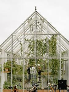 greenhouse with people