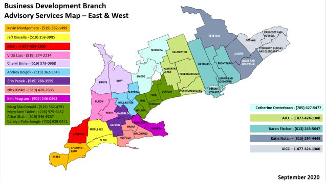 Advisory Services Map