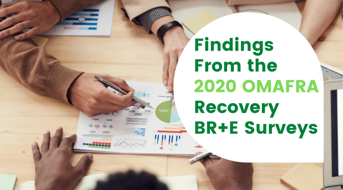 Findings From the 2020 OMAFRA Recovery BR+E Surveys