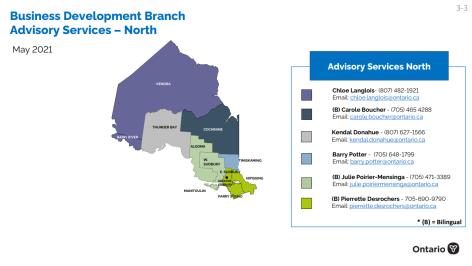 North Advisory Map